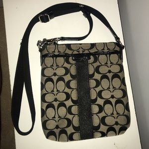 Coach print crossbody bag